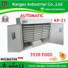 Machine approuvée d'établissement d'incubation de poulet d'incubateur d'oeufs de la CE