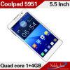 Telefone de Coolpad do armazenamento da memória de Snapdragon Msm8625q 1GB+4GB (5951)