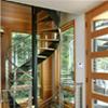 木製の踏面が付いている贅沢によって曲げられる螺線形階段ステアケース