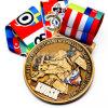 Промотирование персонализировало таможню 3D штемпелюя медаль металла Antique спорта пожалования сувенира чемпионата отливки с изготовленный на заказ тесемкой
