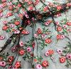 Ткань сетки шнурка вышивки цветка прибытия 2018 весен новая для платья
