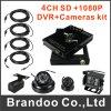 4 canaleta 1080P HDD DVR móvel para veículos