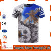 T-shirts 100% de Mens de polyester d'impression de la mode 3D de prix usine