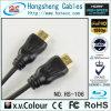 Черный кабель HDTV HDMI применения цвета и мультимедиа