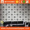 Papel de empapelar blanco y negro del papel pintado de la flor de la venta caliente 2017 para la sala de estar