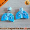 의학 선물 (YT 폐)를 위한 인간적인 폐 모양 USB 섬광 드라이브