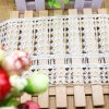 مصنع مخزون بيع بالجملة [12كم] عرض تطريز نيلون شريط بوليستر تطريز زركشة ميل شريط لأنّ لباس داخليّ شريكة & بينيّة نساج & ستر