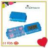 약물 6 격실 디지털 경보 신호 환약 상자 타이머 자물쇠