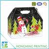 Natal de papelão de papel personalizado Gable Box