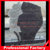 Estilo de pedra de granito Headstone flores para o monumento//Gravestone Tombstone