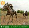 Belle statue de cheval de bronze en fonte
