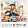 Polyester personalizzato 100% Check Strip Printed per Hospital Home Airplane Coral Fleece Velvet Blanket
