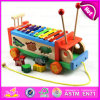 2016 Educational brandnew Wooden Car Toy con Knock Piano, Preschool Wooden Car Toy per Baby W04A214