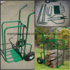 Madeira de fogo Madeira Log Two Wheel Trolley Metal Cart