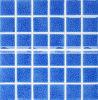 48X48mm Blau-Carckle glasig-glänzende keramische Pool-Mosaik-Fliese (BCK661)