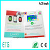 4.3インチHD/IPS LCDスクリーンの招待ビジネス昇進の挨拶状