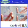 Animal de estimação plástico Semi-Transparent ou cartão do PVC