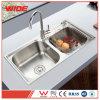 Luxe 304 Gootsteen van de Keuken van Amerika StandaardUpc van de Gootsteen van Cupc van het Roestvrij staal de Dubbele