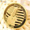 Design criativo personalizado de alta qualidade Loja gravado moedas de ouro