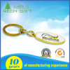 Oval Shape Metal Promotion Custom Attachment Keychain Gold/Nickle Plated