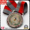 Medalla de encargo de la insignia de la impresión del caballo del metal con la cinta
