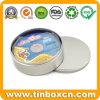 CD/DVD 케이스 포장 상자를 위한 둥근 금속 양철 깡통