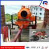 Pompe concrète de remorque hydraulique mobile de mélangeur de tambour de plaque en acier de la fabrication 8mm de poulie profondément (JBT40-P)