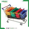 卸し売りスーパーマーケットポリエステルナイロン再使用可能なFoldable折る野菜買物車のトロリー袋
