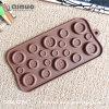 Прессформа шоколада силикона еды формы кнопки Manufactory Qinuo для рождества