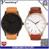 Relógio Charming ocasional de aço do vestido do OEM do relógio da mão das senhoras do relógio de pulso de quartzo novo da alta qualidade do couro genuíno do relógio dos homens das mulheres do projeto Yxl-464 2016