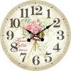 Decoración Vintage antiguo jardín fresco Arreglo de madera MDF de diseño de reloj de pared de la etiqueta de papel de impresión