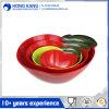 Kom van de Salade van de Container van het Voedsel van de Melamine van het Embleem van de douane de Veelkleurige