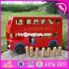 Il giocattolo per i capretti, il bus di legno del giocattolo del modello dell'automobile dei giochi della città di formazione, bus rosso di legno del bus di Londra di colore rosso di Londra dei bambini gioca W04A161