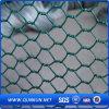 Engranzamento de fio sextavado revestido verde do PVC da alta qualidade