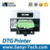 기계 인쇄 기계를 인쇄하는 t-셔츠