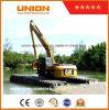 Excavatrice amphibie du chat 320d (20t) avec le ponton de train d'atterrissage
