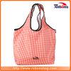 De vouwbare en Draagbare Streep van het Net van de Manier Zachte Roze Dame Tote Bag Wholesale