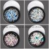 4개의 색깔 또는 세트 3D 못 예술 훈장 DIY 매력 마이크로 캐비아 구슬 및 수정같은 모조 다이아몬드와 반짝임 Sequins 보석 못 (ND11)