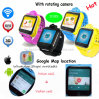 3G WiFi Kind GPS-Verfolger-Uhr mit Umdrehungs-Kamera