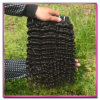 中国の人間の毛髪はインドの深い波の巻き毛にバージンの人間の毛髪の編むことのために製造する