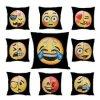 Lo smiley cambiante divertente DIY dell'ammortizzatore di Emoji del Sequin del coperchio della sirena della cassa rovesciabile del cuscino affronta la federa decorativa