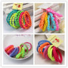 O cabelo elástico de tecelagem colorido do anel da corda dos miúdos une-se (JE1508)