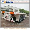 Del CCC de la ISO 3-Axles los 40FT del plano del envase del carro acoplado semi