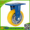 Steife Yellow PU auf Cast Iron Core Wheels Caster
