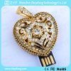 Azionamento Pendant della penna del USB dei monili di figura del cuore dell'oro (ZYF1921)