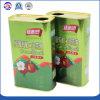 Custom 1L Azeite virgem retangular de latas de metal