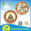 ダイヤモンドの端デザインのカスタム金属24kの純粋な金リターンリングの宗教硬貨