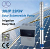 30HP 6SP bomba sumergible solar, Profundo de bombas para pozos, bomba de la irrigación