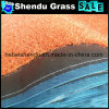 gazon van het Gras van de Breedte van 4m het Rode Synthetische met de Netto Steun van de Doek