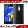Ультра Thin Model Doogee Turbo Dg2014 IPS 13MP+5MP Mtk6582 Quad Core 1GB+8GB 5  Smart Phone